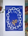 La Liberté screen printed poster