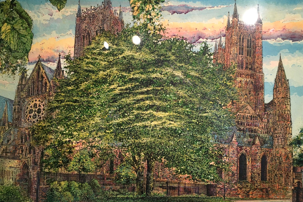 """Carl Paul """"North West Transept, Lincoln Cathedral"""""""