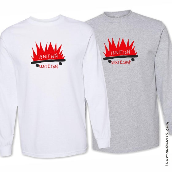 Image of COMBUSTED L/S TEE
