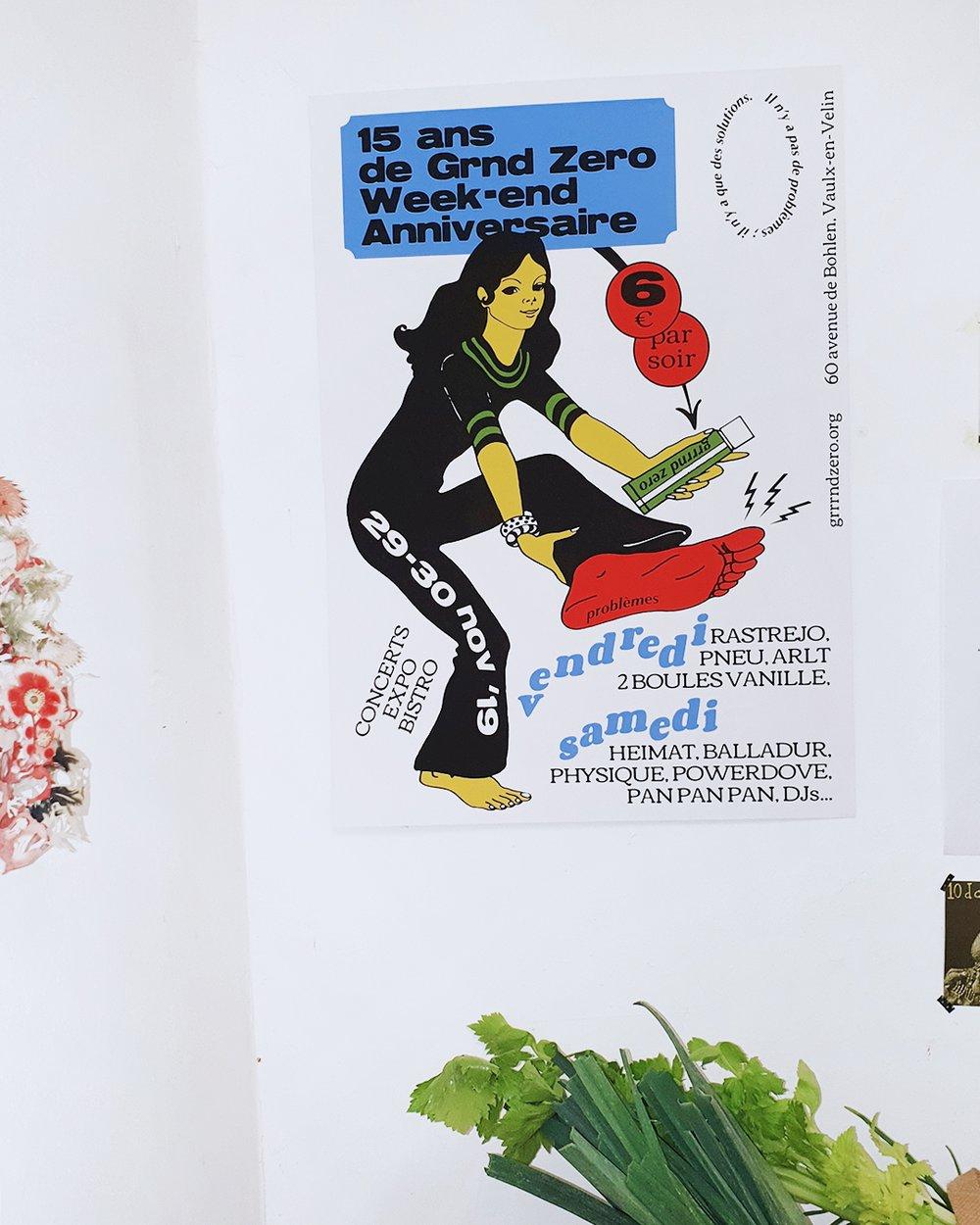 Anniversaire Grrrnd Zero screen printed poster