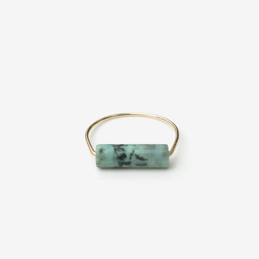 Image of bague mathilda jaspe africaine