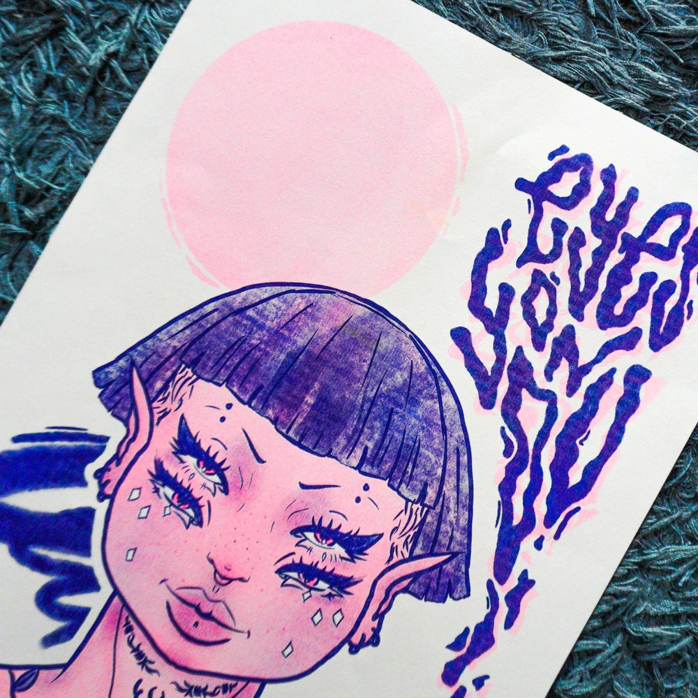 Limited Edition | A3 Risograph Print | 'Eyes On You' | Wee Nuls x Effe