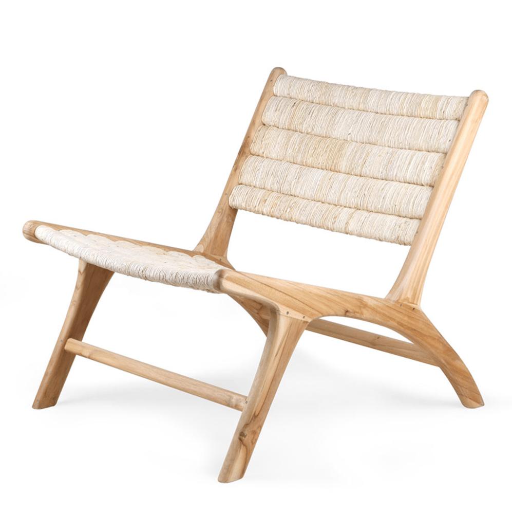 Image of Abaca teak/woven lounge chair