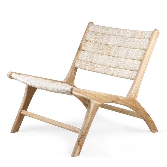 Image of Abaca teak/woven lounge chair