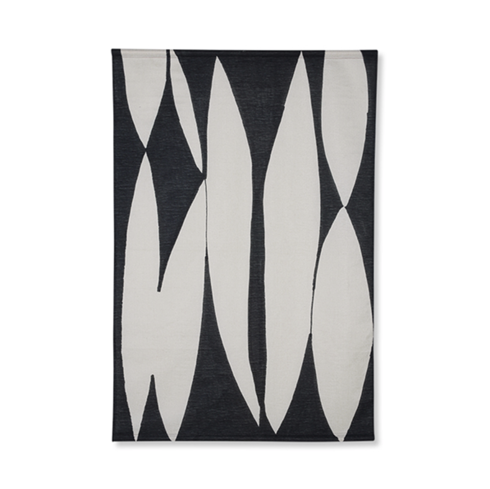 Image of Abstract black and white wall hanging
