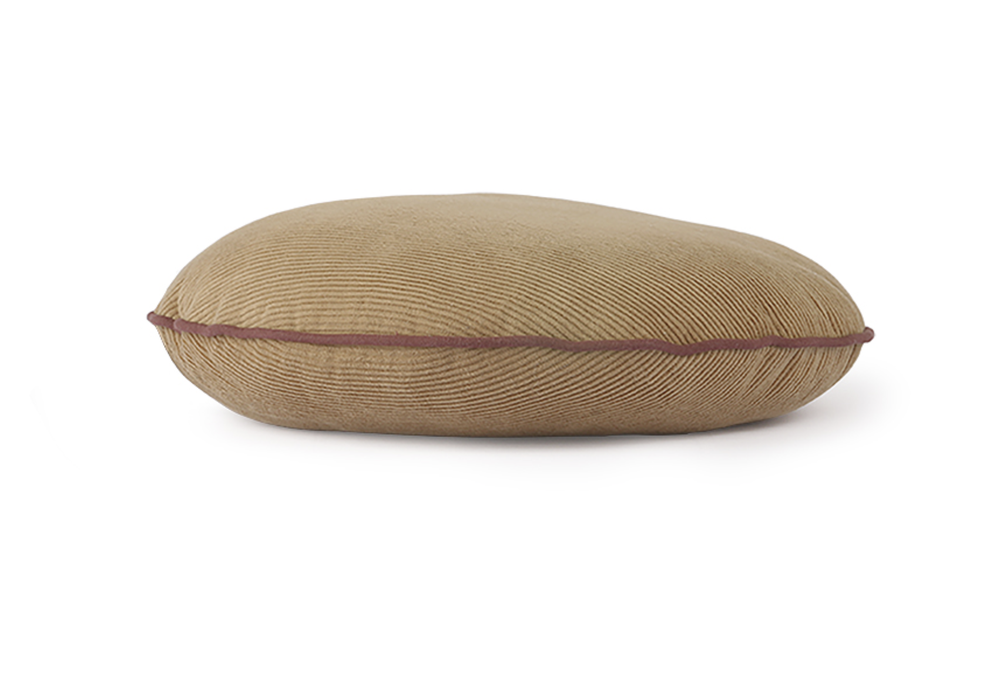 Image of Round cord cushion in brown