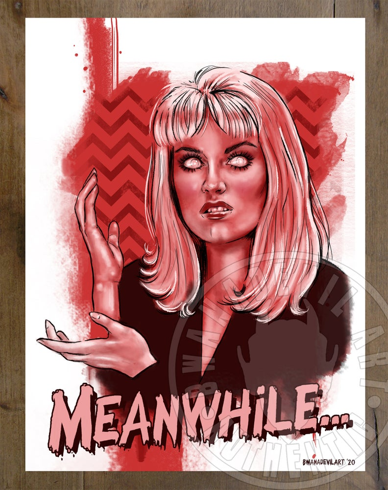 Image of Meanwhile Laura Palmer (Twin Peaks) Art Print 9x12 in.