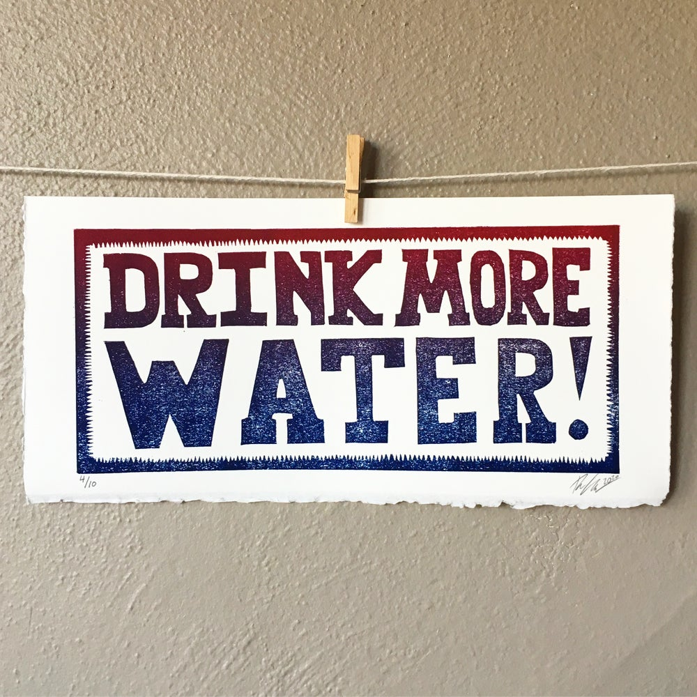 Image of DRINK MORE WATER Poster