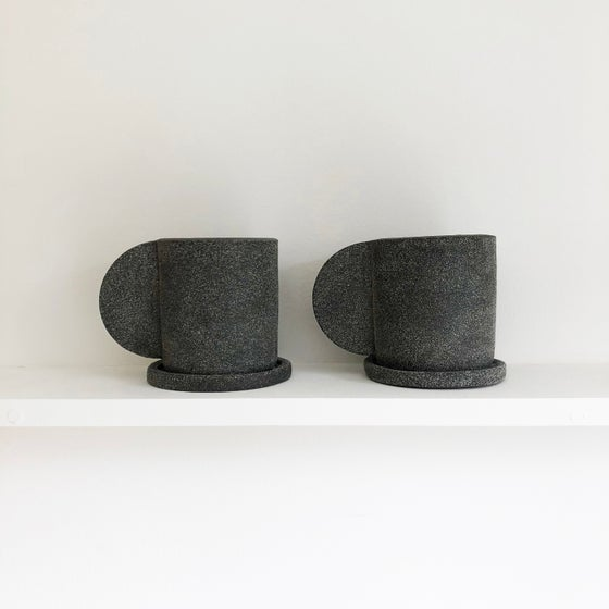 Image of Dark Grey Mug + Saucer by Brutes ceramics