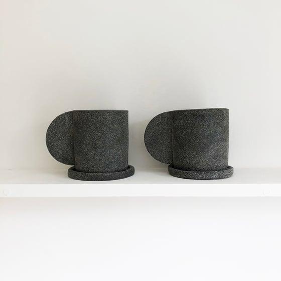 Image of Dark Grey Mug + Saucer by Brutes ceramics