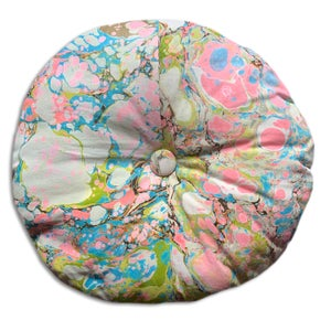 Image of Mini Hand Marbled Circle Pillow