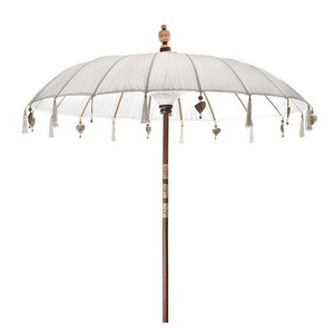 Image of WHITE BALINESE SUN UMBRELLA