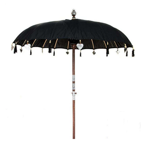 Image of BLACK BALINESE SUN UMBRELLA