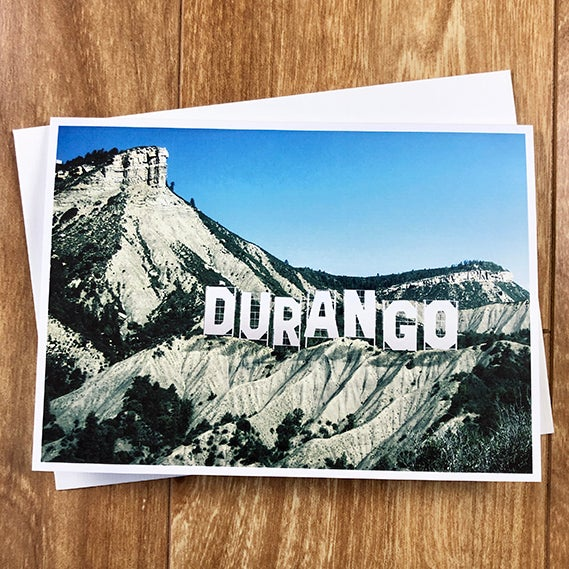 Image of Durango Sign - Greeeting Card - by David Holub