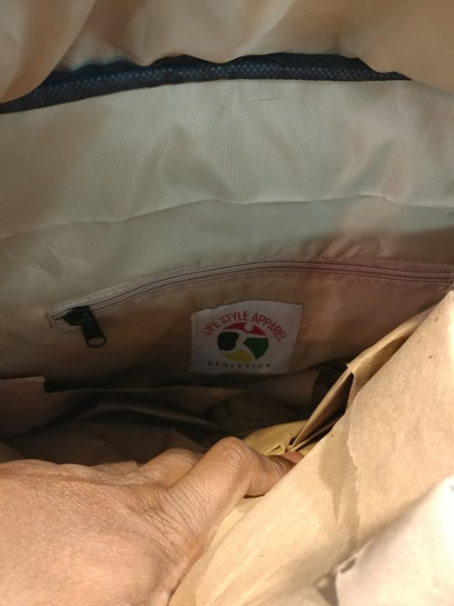 Image of RED/CREAM XL LIFE STYLE DUFFLE BAG