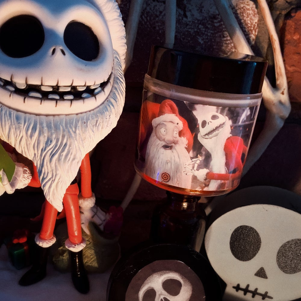Image of Santa Jack Nightmare Before Christmas Candle