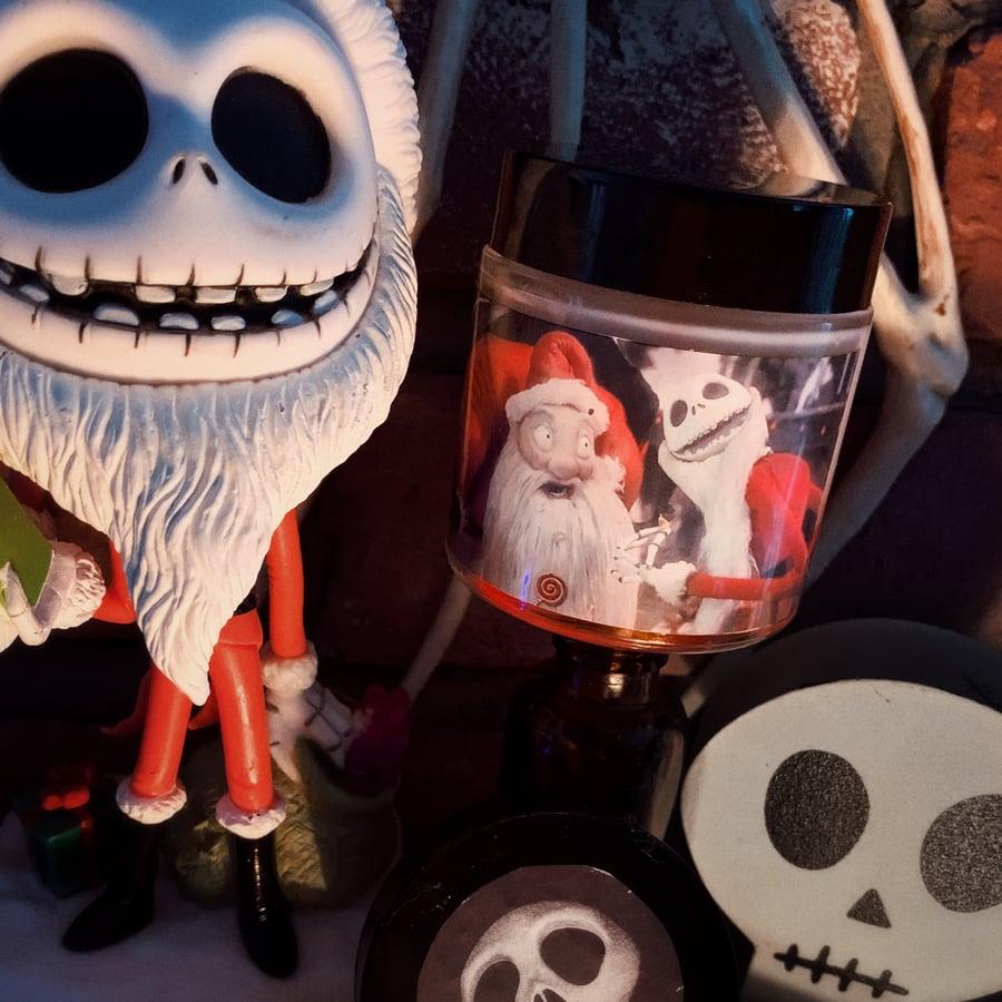 Image of Santa Jack Nightmare Before Christmas Candle