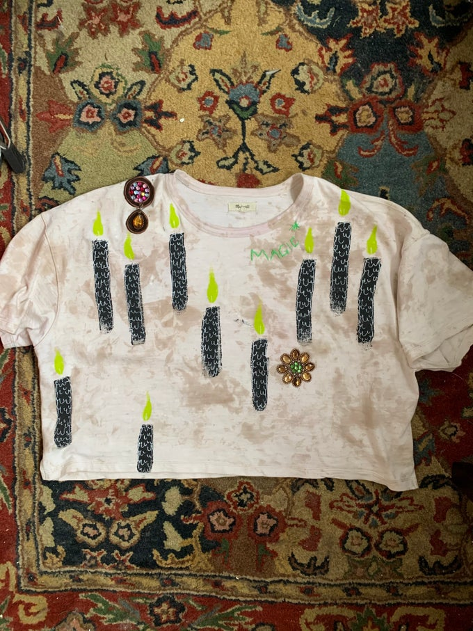 Image of FIELD OF CANDLES LOUNGE TEE