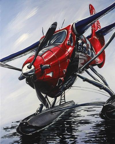 Image of Captain Canada 8x10 Block Mount