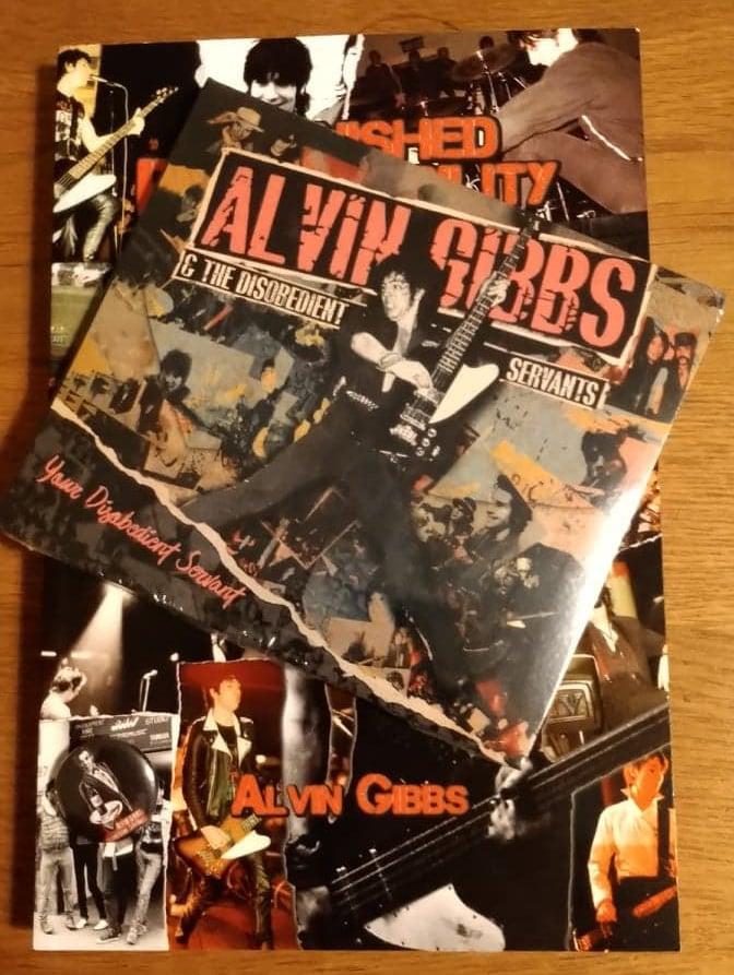DISCOUNT BUNDLE - Alvin Gibbs  - BOOK / IMPORT CD / PIN BADGE (T&M Package #1)
