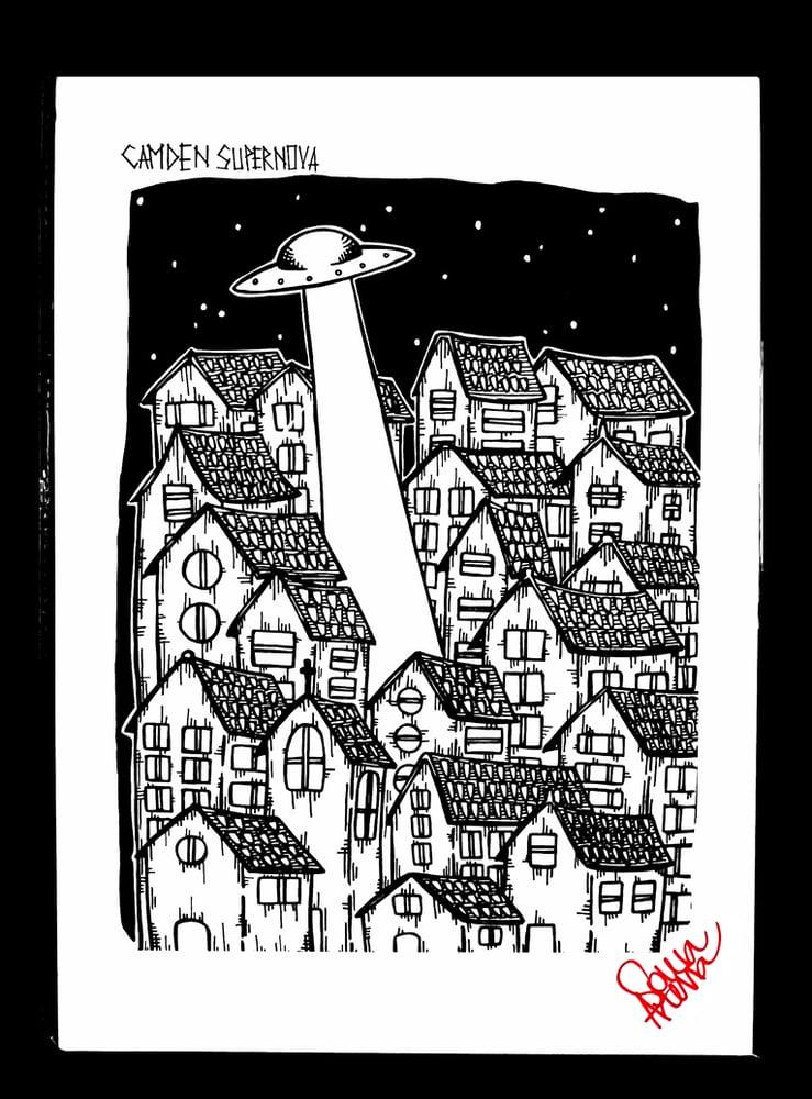 Image of UFO print