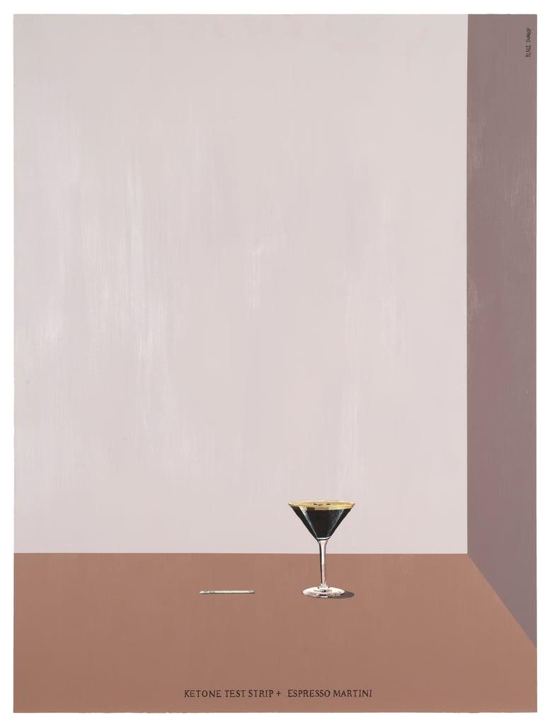 Image of Ketone Test Strip and Espresso Martini - SIGNED PRINT - Blake Dunlop