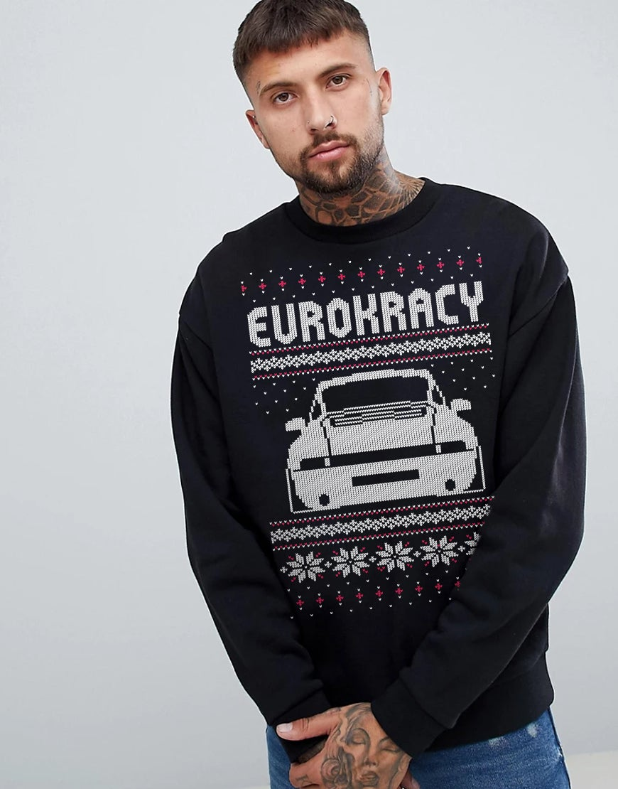 Eurokracy XMAS Sweater - UNISEX - Black/Noir