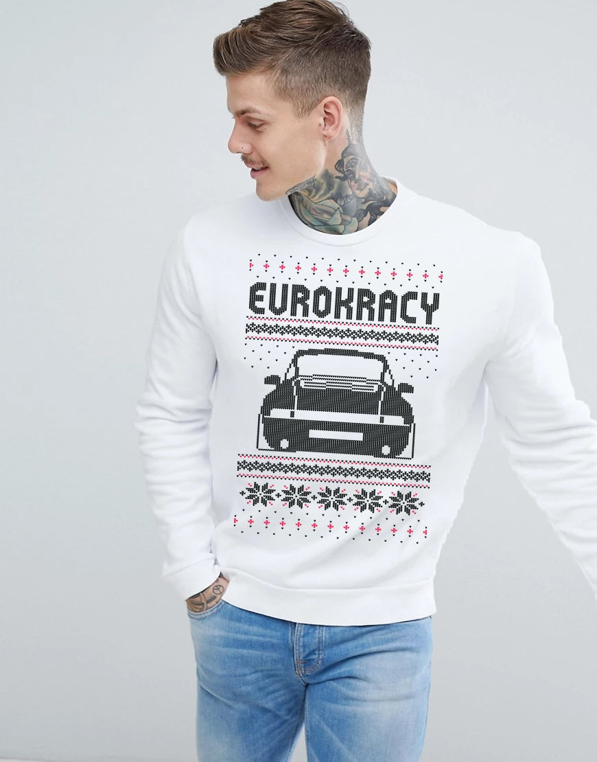 Eurokracy XMAS Sweater - UNISEX - White/Blanc