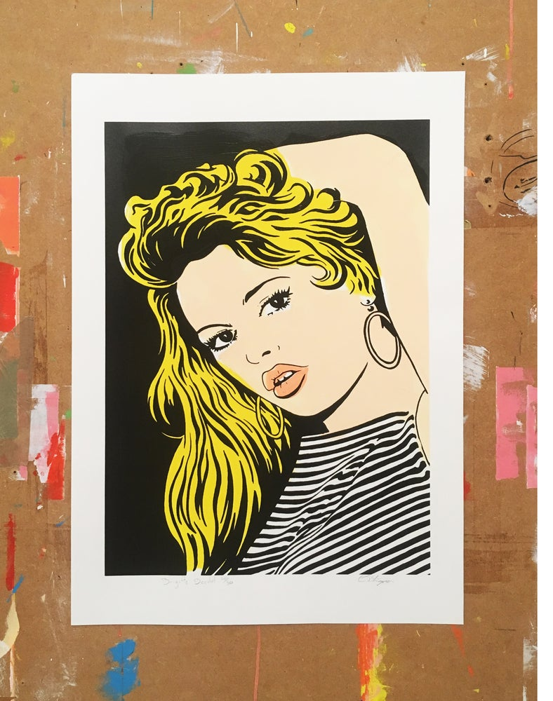 Image of Brigitte Bardot (Hand Coloured)