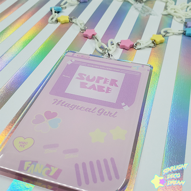 Image of Super Babe Portable Epoxy Resin and Acrylic Necklace