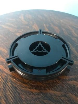 "Image of Burlington Recording Professional Black 1/4"" Plastic  NAB Hub Adapters (PAIR)"