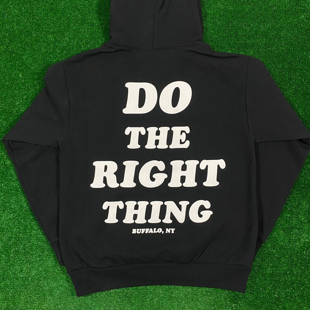 Image of Do The Right Thing Heavy Weight Hoodie