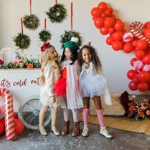 Image of Christmas Heart Pom Berets