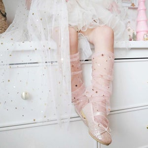 Image of Sheer Slouch Socks with Confetti Stars