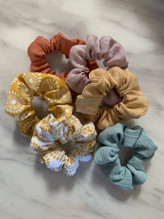 Image of Zoe's handmade scrunchies