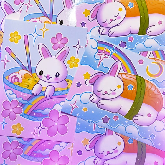 Image of 'Yummy Bunnies' Mini Prints