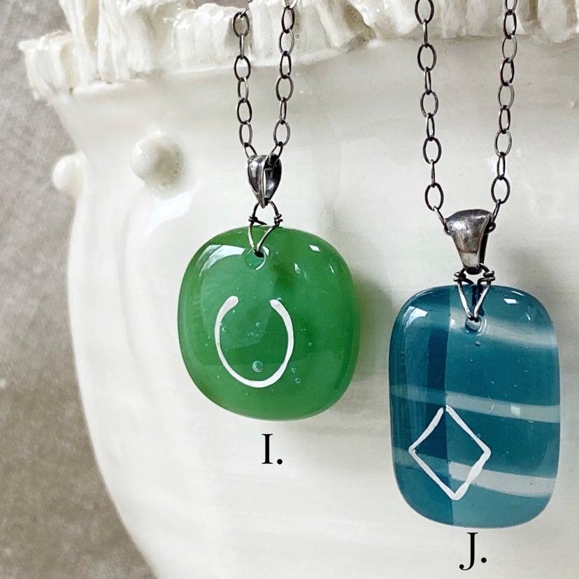 Image of Glass Drop Pendant IV