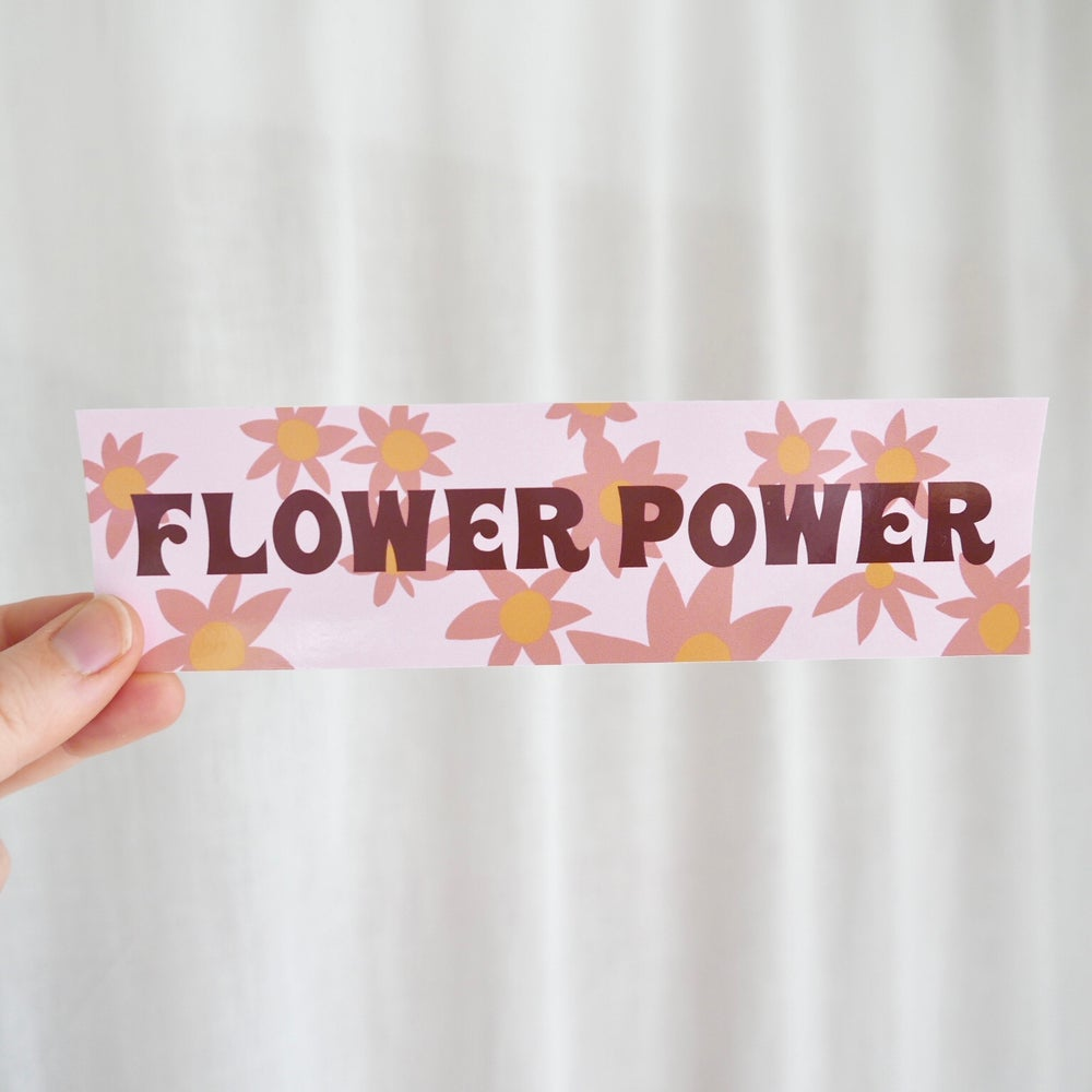 Image of Flower Power Bumper Sticker