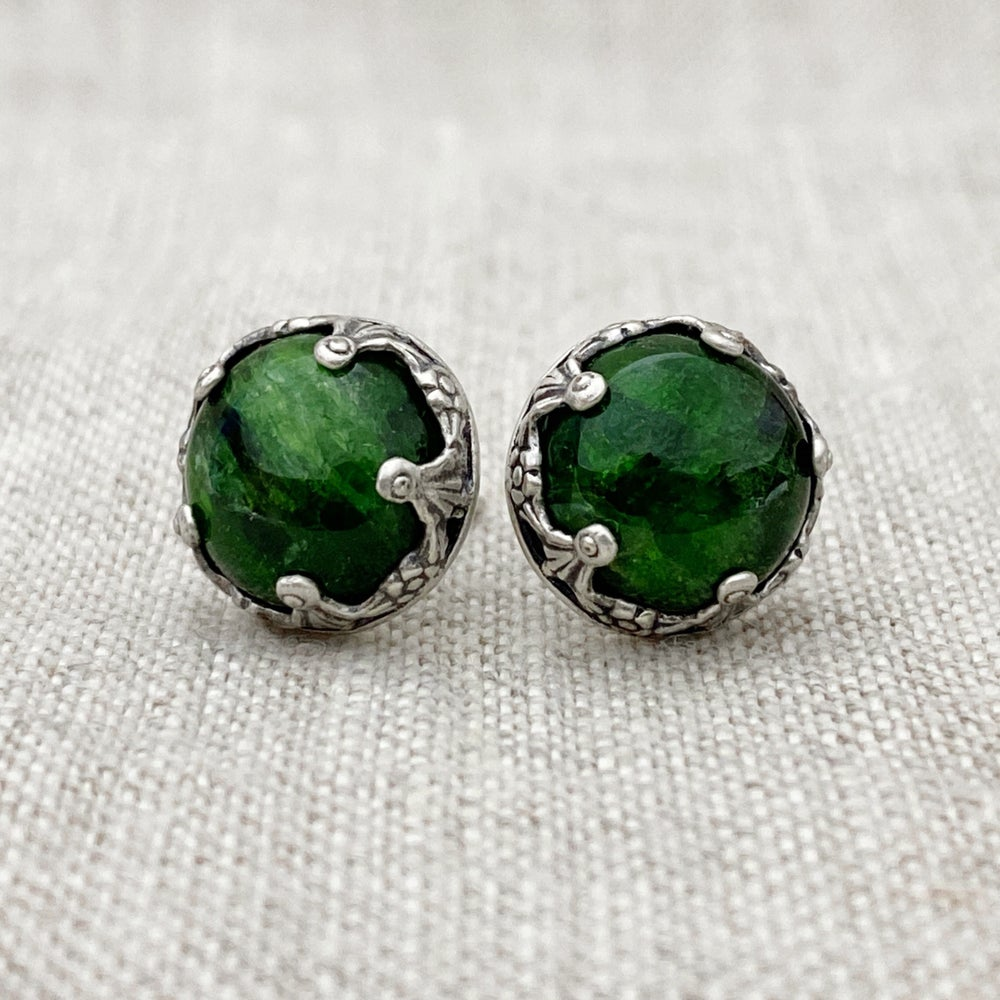 Image of Chrome Diopside Post Earrings