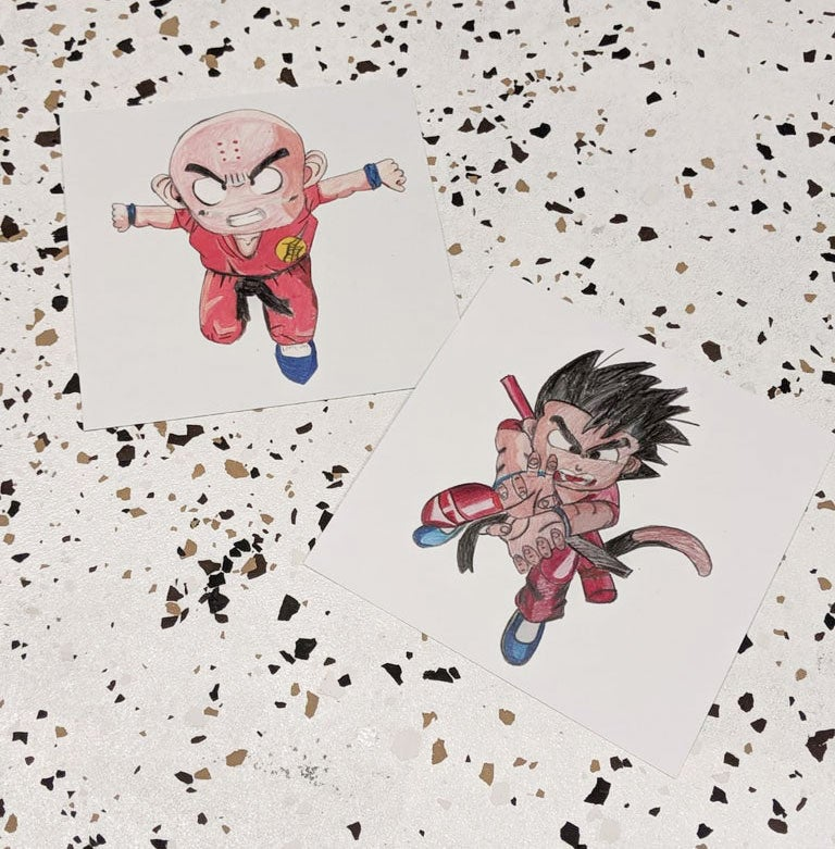 Image of Goku & Krillin Print