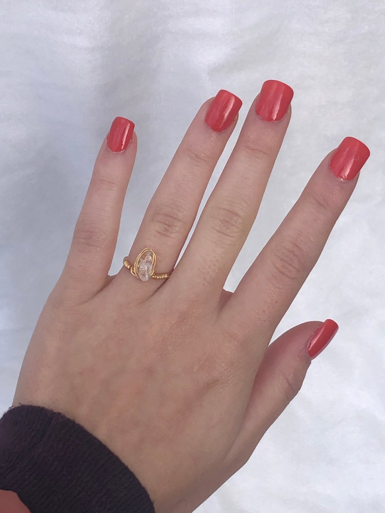 Image of Clear Gemstone Ring