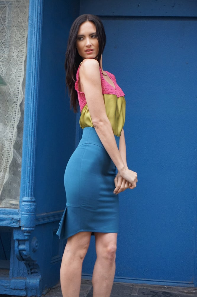 Image of High Waist Pencil Skirt