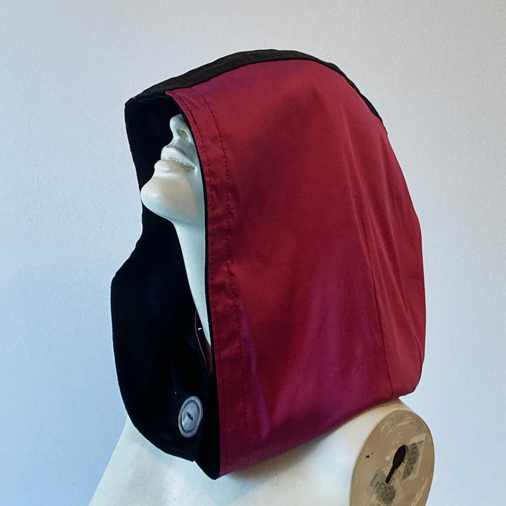 Image of Reversible Black and Pink Hood