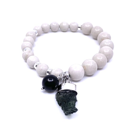 Image of New Riverstone Moldavite Acceleration Wrist Mala