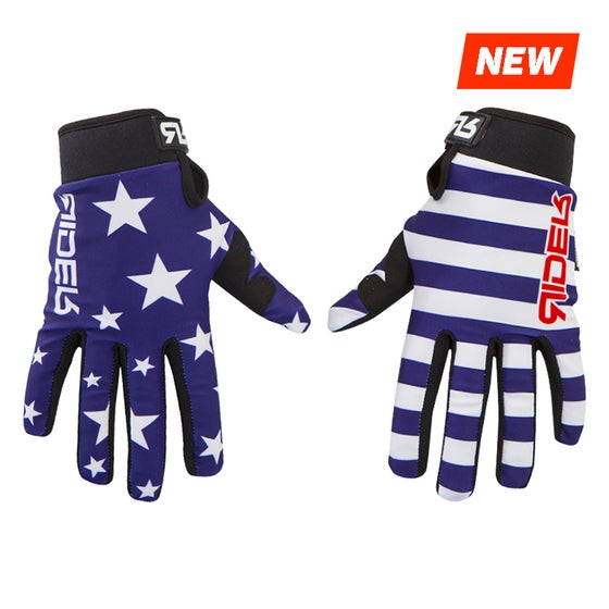 Image of USA flag gloves