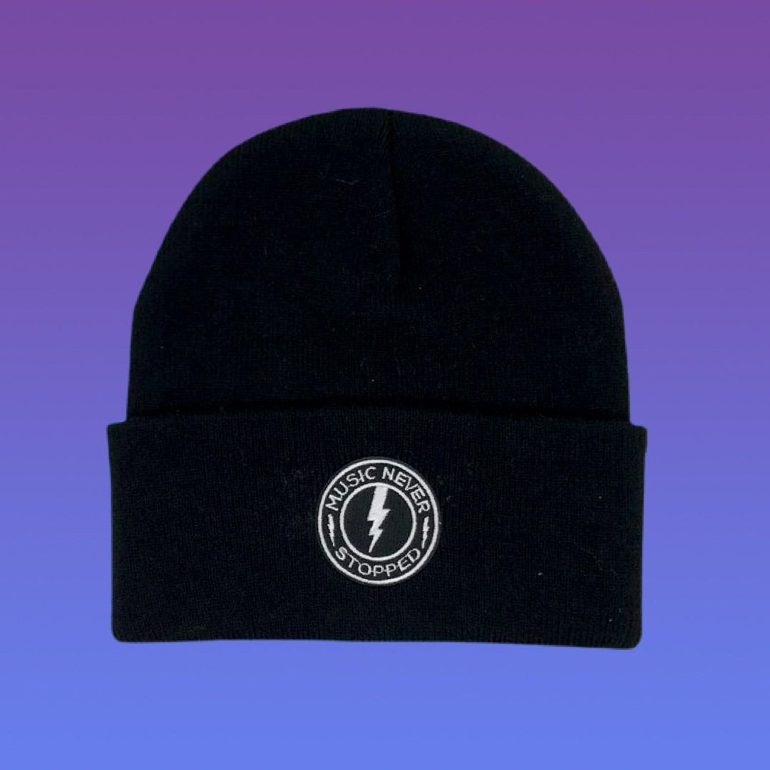 NEW Embroidered Music Never Stopped Beanie!
