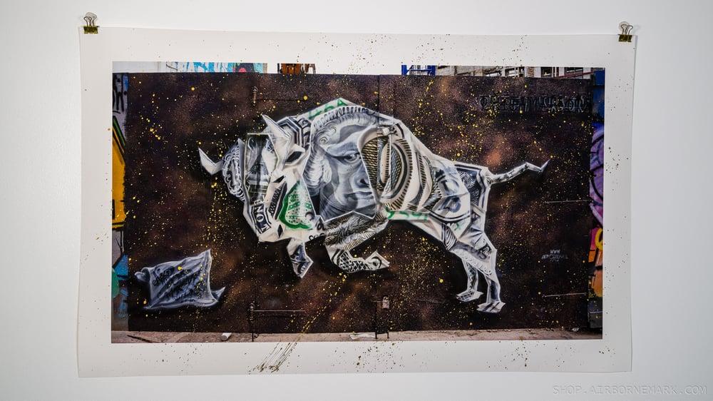 Image of Buffalo Bill $1 USD glicee print A1