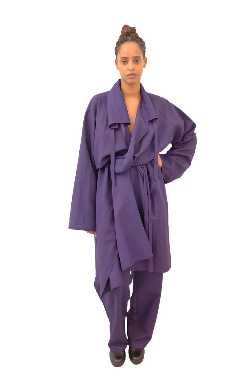 Image of FOS - ROBE LONG - Viscose- Purple