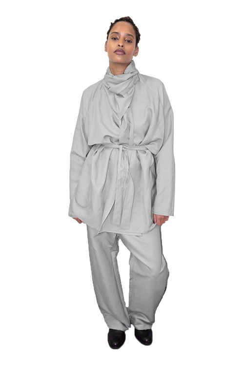 Image of FOS Trousers- Viscose- Grey