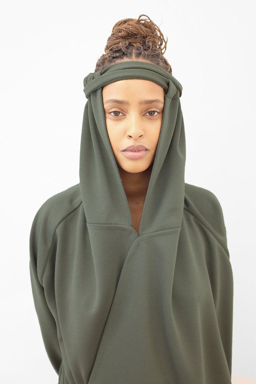 Image of FOS Robe - Wool- Dark green